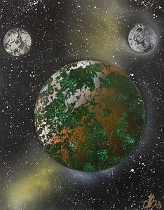 Planet with two moons 8