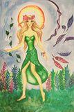 Original Summer Goddess Painting