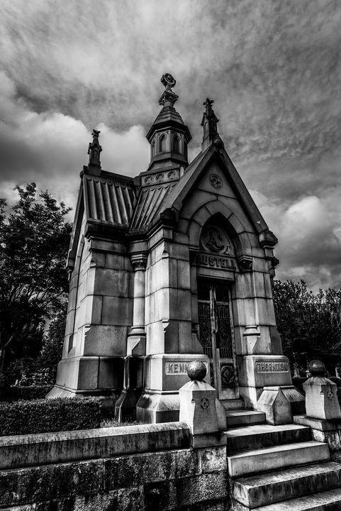 Mausoleum (B&W) - James L Bartlett Photography