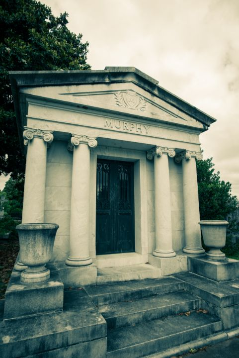 Murphy Mausoleum (Pale) Oakland Cem. - James L Bartlett Photography