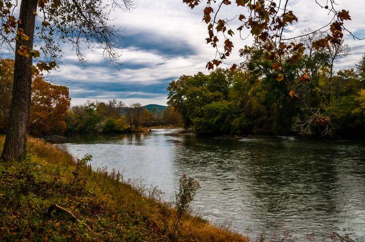 Etowah River in Autumn - James L Bartlett Photography