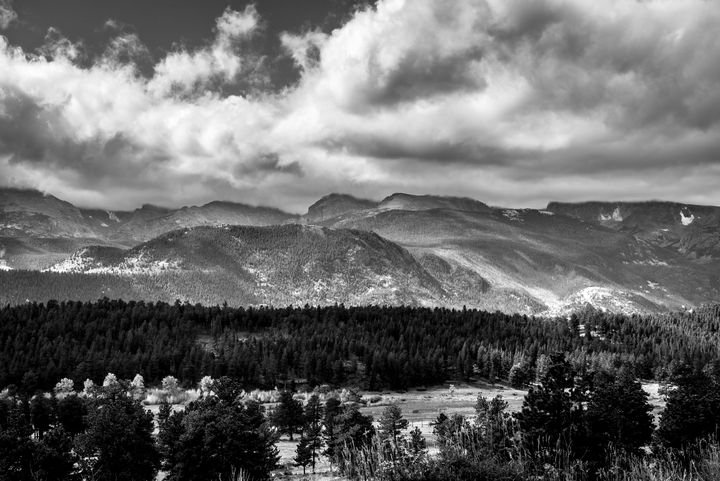 Rockies in Black and White - James L Bartlett Photography