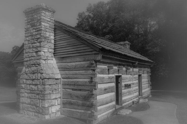 Aging Log Cabin - James L Bartlett Photography