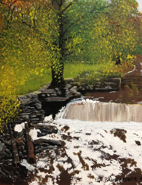 Falls of White Mills - Ed Baumgardner Art
