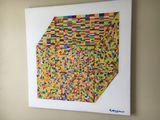 Original, Acrylic, Abstract, Cubist