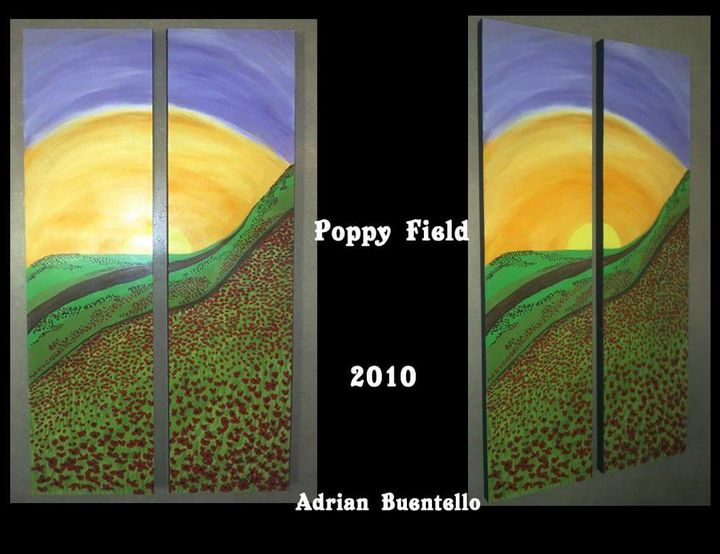 Poppy field - Adrian Buentello Art Gallery
