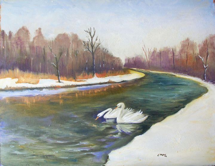 Winter Swans - Arts d'Tryon Studio