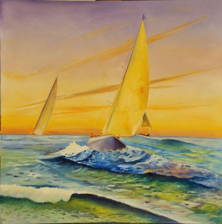 Morning Sail - Arts d'Tryon Studio