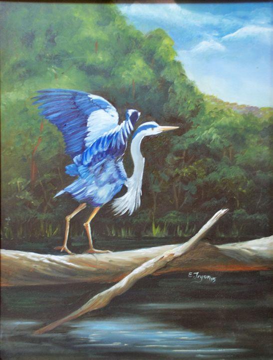 Blue Heron - Arts d'Tryon Studio