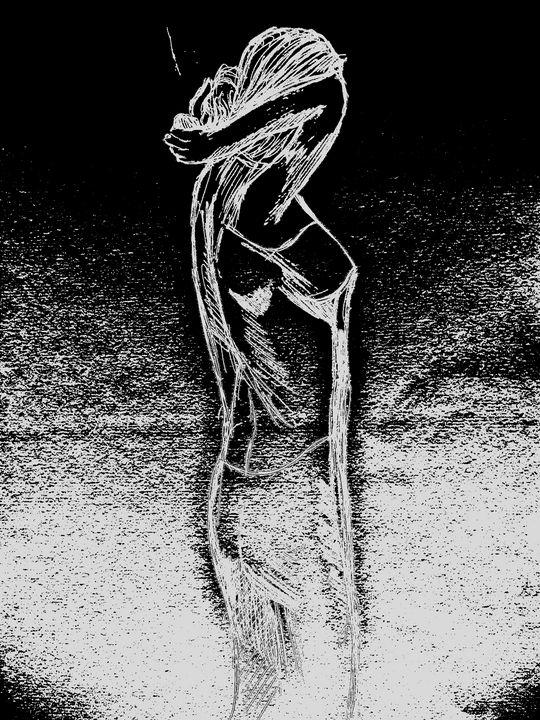 Mystic woman in haze - Rik Bakshi
