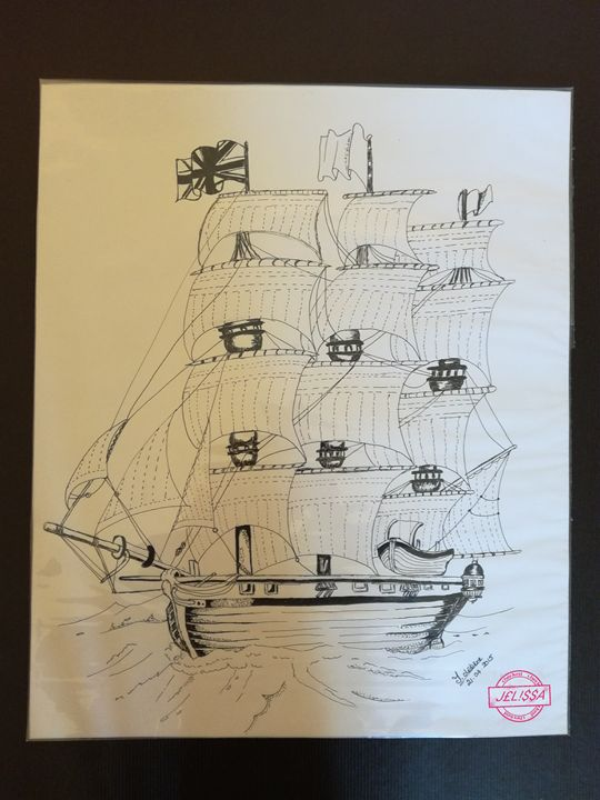 Wooden sailboat - Jess art Passion