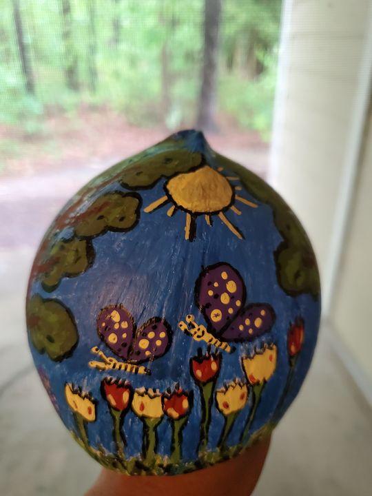 coconut shell art - Charu art