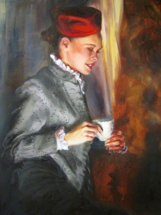 Afternoon Tea - Pamela Shumway Portraits and Paintings