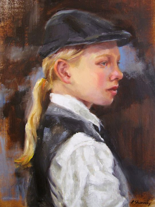 Young actor - Pamela Shumway Portraits and Paintings