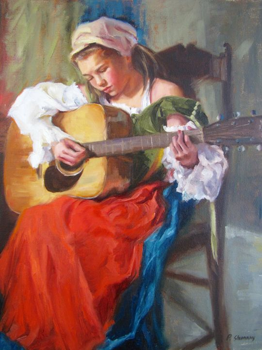 Her Song - Pamela Shumway Portraits and Paintings