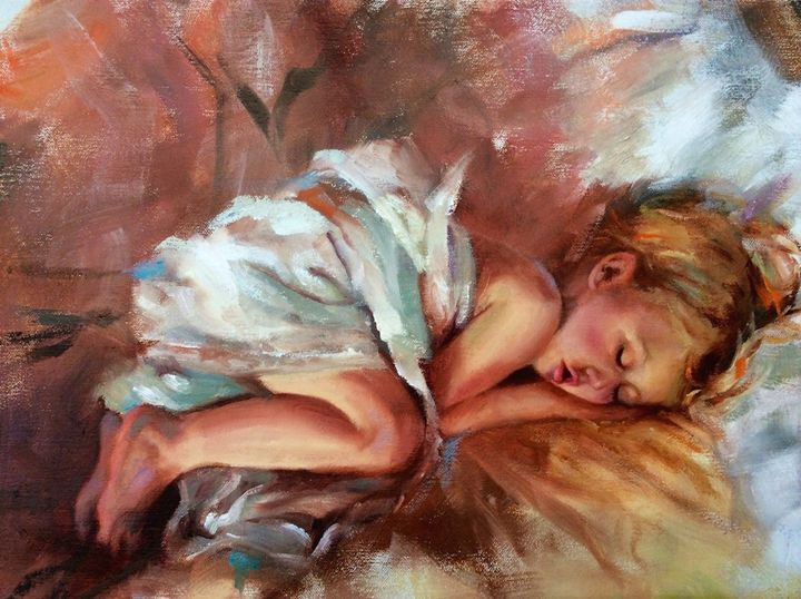 Sleeping Bea - Pamela Shumway Portraits and Paintings