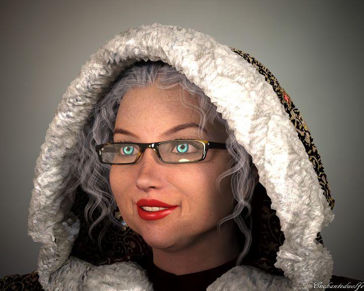 Mrs. Claus Head Shot - EnchantedWolfe's Designs