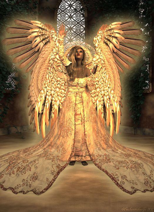 Angel reaching for Heaven - EnchantedWolfe's Designs