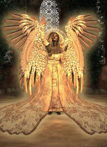 Angel reaching for Heaven