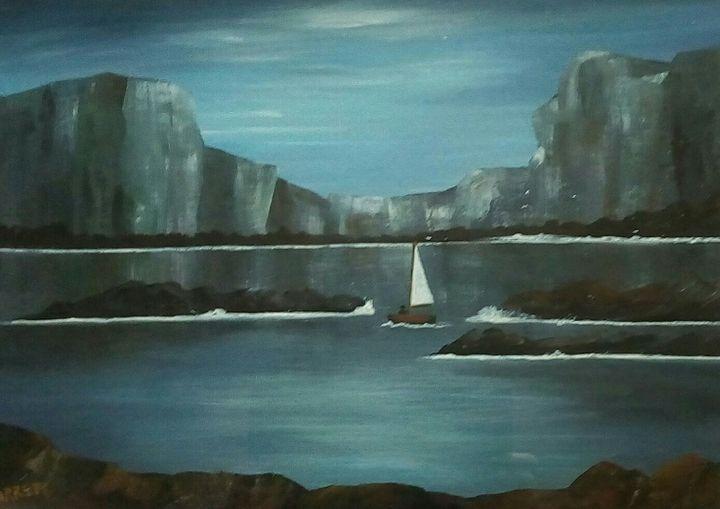 Cliff Edge - Kathleen Garrett's Art