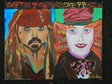 mad hatter and captin jack sparrow r