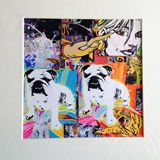 """12.5""""x12.5"""" matted serigraph"""