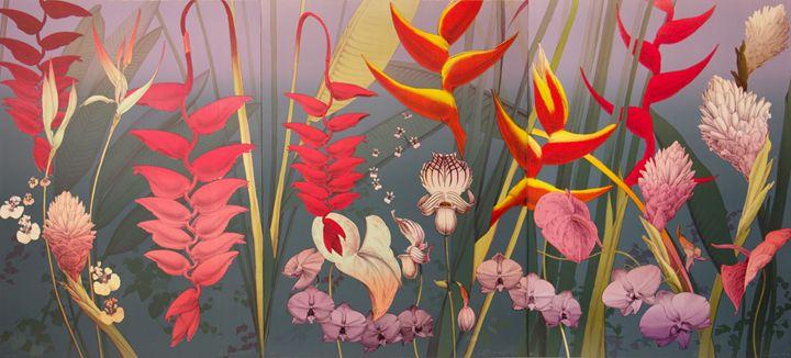 Hawaiian Triptych - B and S Finearts