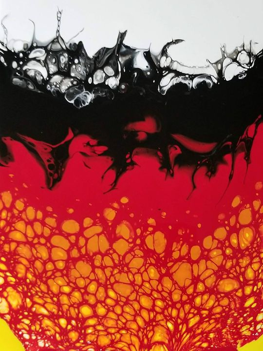 Black Fire - Acrylics