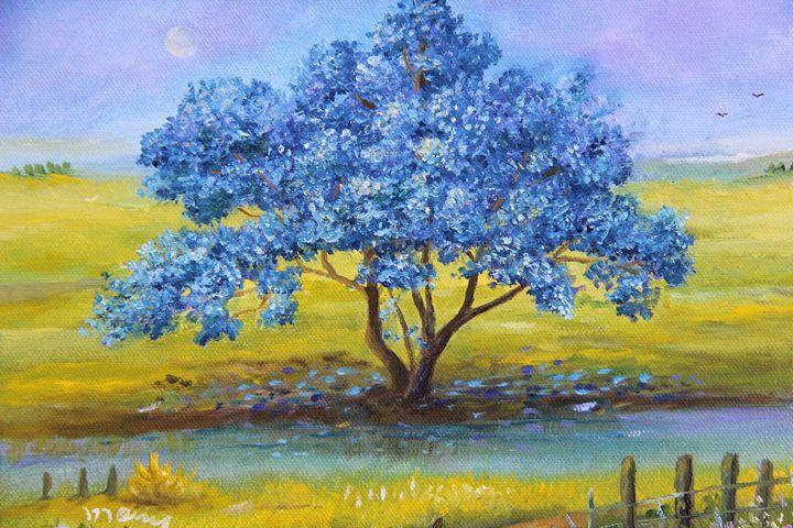 Jacaranda a Orillas del Rio - Alicia Maury Oil Paintings