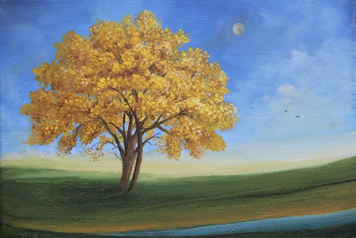 Roble Amarillo - Alicia Maury Oil Paintings