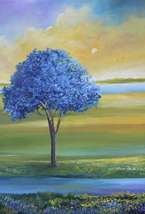Jacaranda - Alicia Maury Oil Paintings