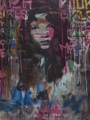 Kate Moss Graffiti - Gregory Kirschenbaum