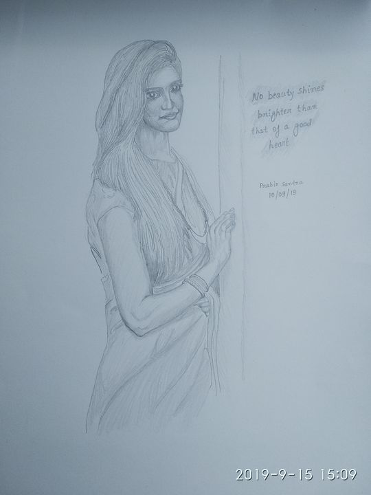 Beauty of good heart - Prabir sketch gallery
