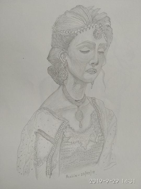 Beautiful bride in her wedding dress - Prabir sketch gallery