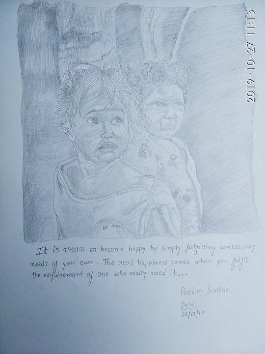 The needy - Prabir sketch gallery
