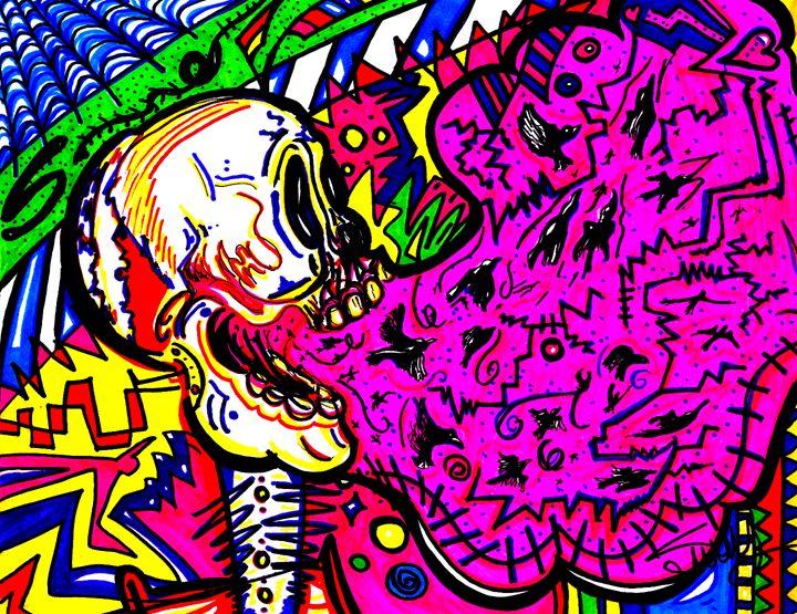 Screaming Skull Pink - SugarBySway