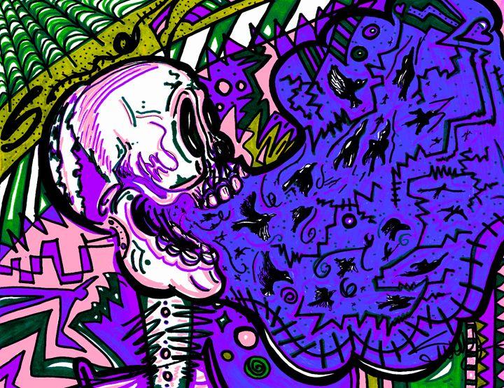 Screaming Skull Blue - SugarBySway