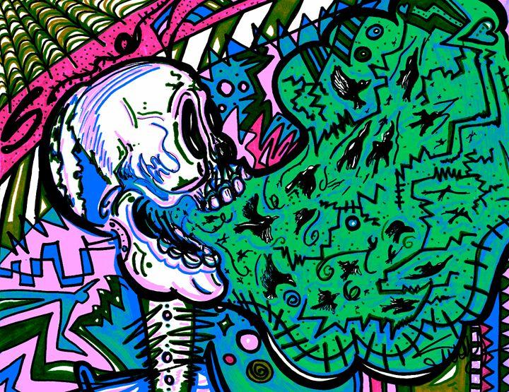 Screaming Skull Green - SugarBySway