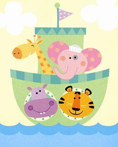 Jungle Animals Set Sail!