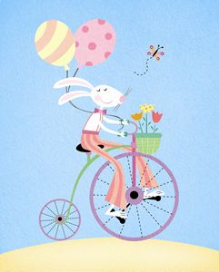 Peter the Rabbit goes bike riding!