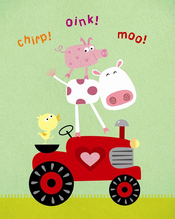 Farm Animals on Tractor - Brenda Sexton