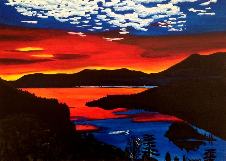 Tahoe Sunset - Eye Candy Creations
