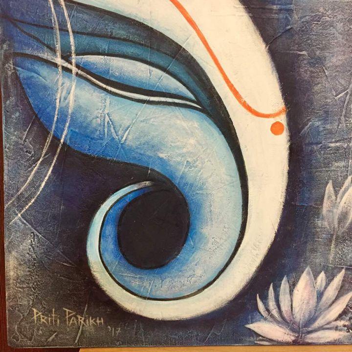 BLUE GANESHA - Art India