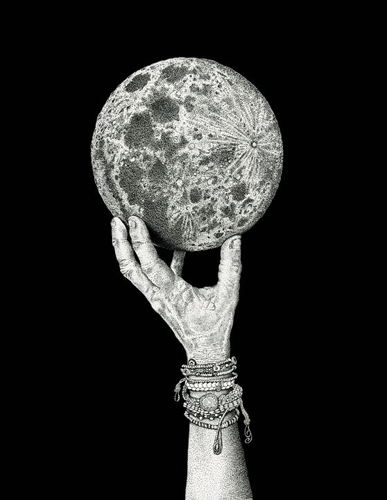 Moon in Her Hand - NewmanArt