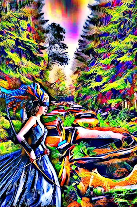 Post Apocalyptic Highway - Painted Nebula