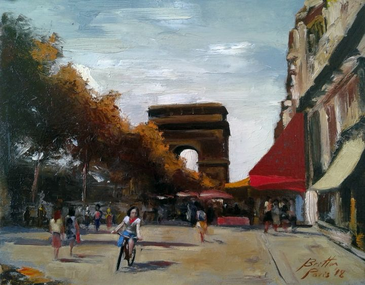 Champs Elysees, Paris - Paintings of Paris