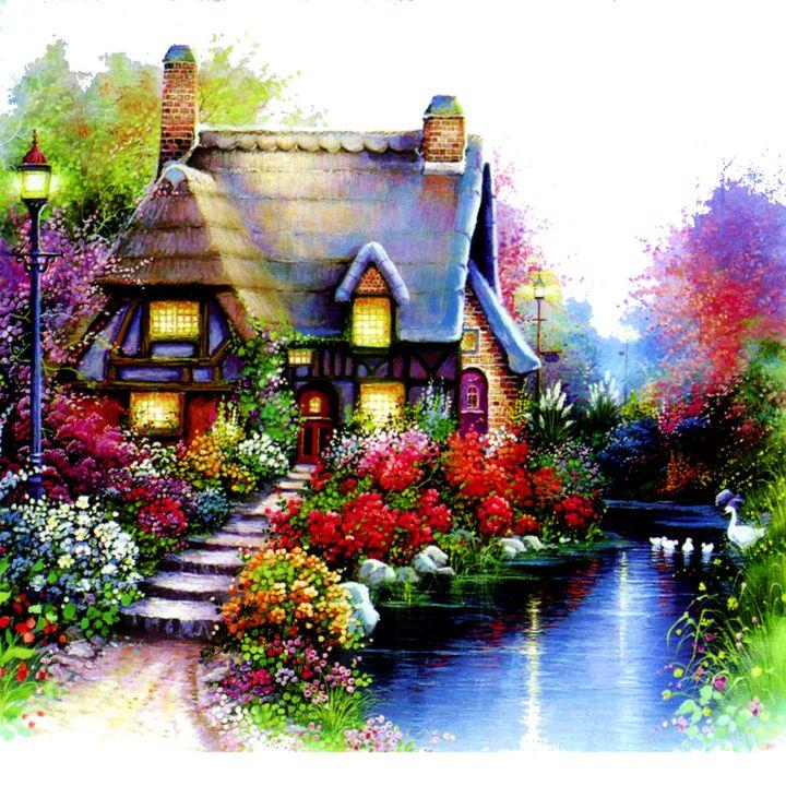 Cottage Oil Painting - Treasure Hustlers