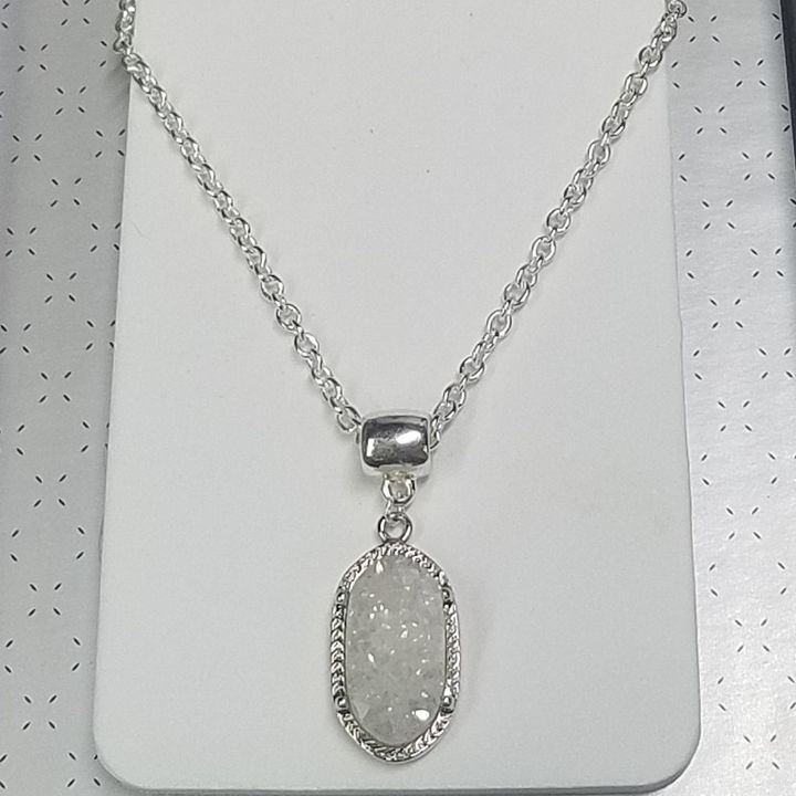 ROCK CRYSTAL DRUZY QUARTZ NECKLACE - Treasure Hustlers