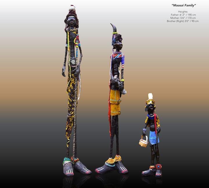 """ Masai family"" Hagenaars collection - Dutch Sculptures"