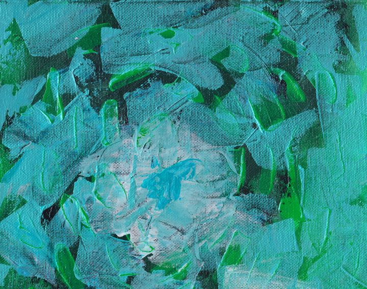 Fire Aqua Blue - L. J. Smith Fine Art